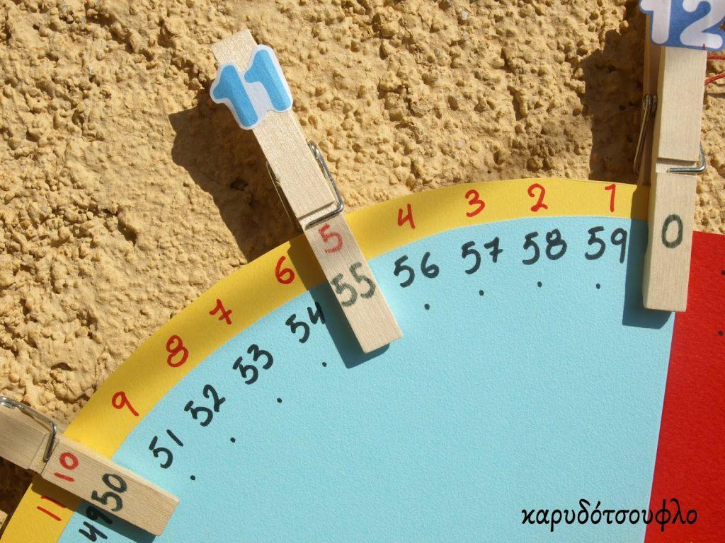 Diy-ρολόι-εκμάθησης-της-ώρας
