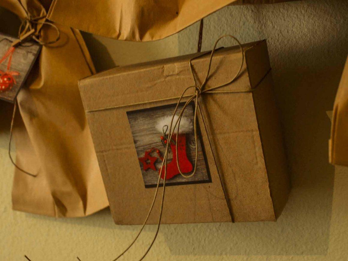 Ημερολόγιο αντίστροφης μέτρησης σε χαρτοσακούλες