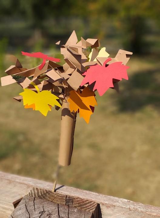 Kids craft autumn tree