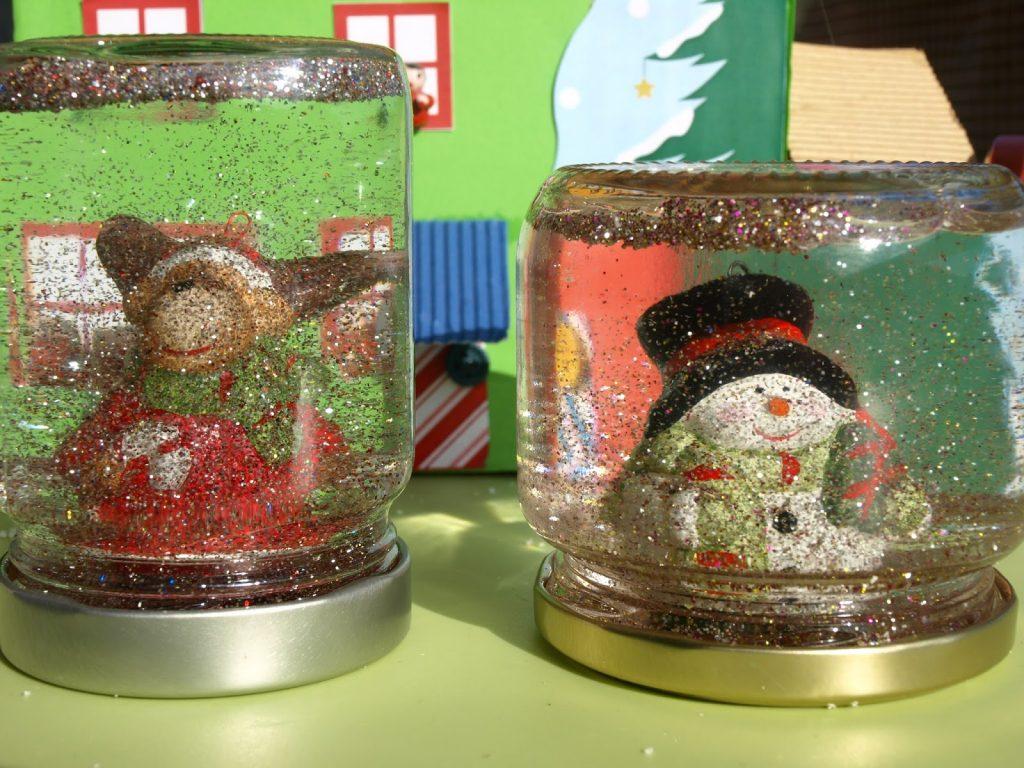 Χριστουγεννιάτικες χιονόμπαλες από βάζα