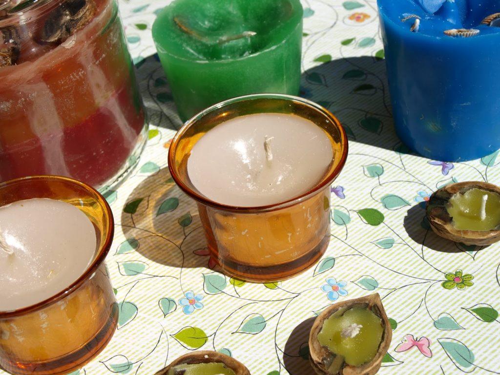 Φτιάχνουμε καινούρια κεριά από παλιά κεριά