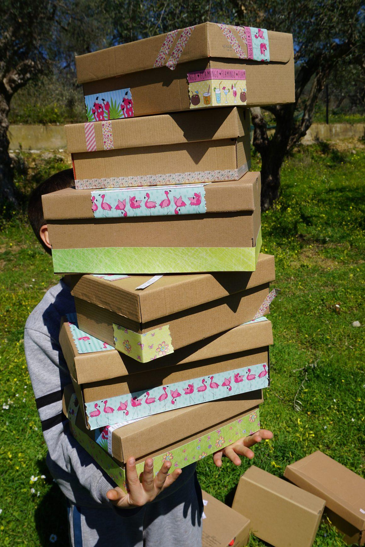 Οργάνωση σπιτιού χρησιμοποιώντας κουτιά παπουτσιών