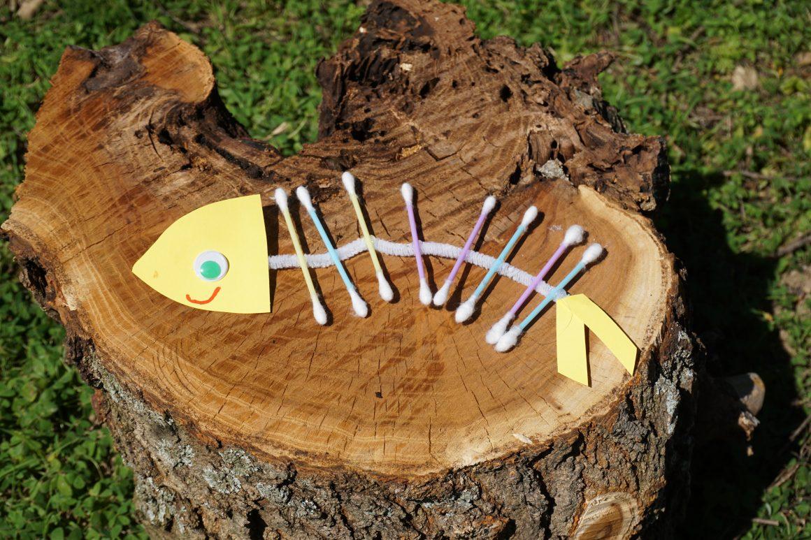 Φτιάχνουμε ψαροκόκαλα από μπατονέτες