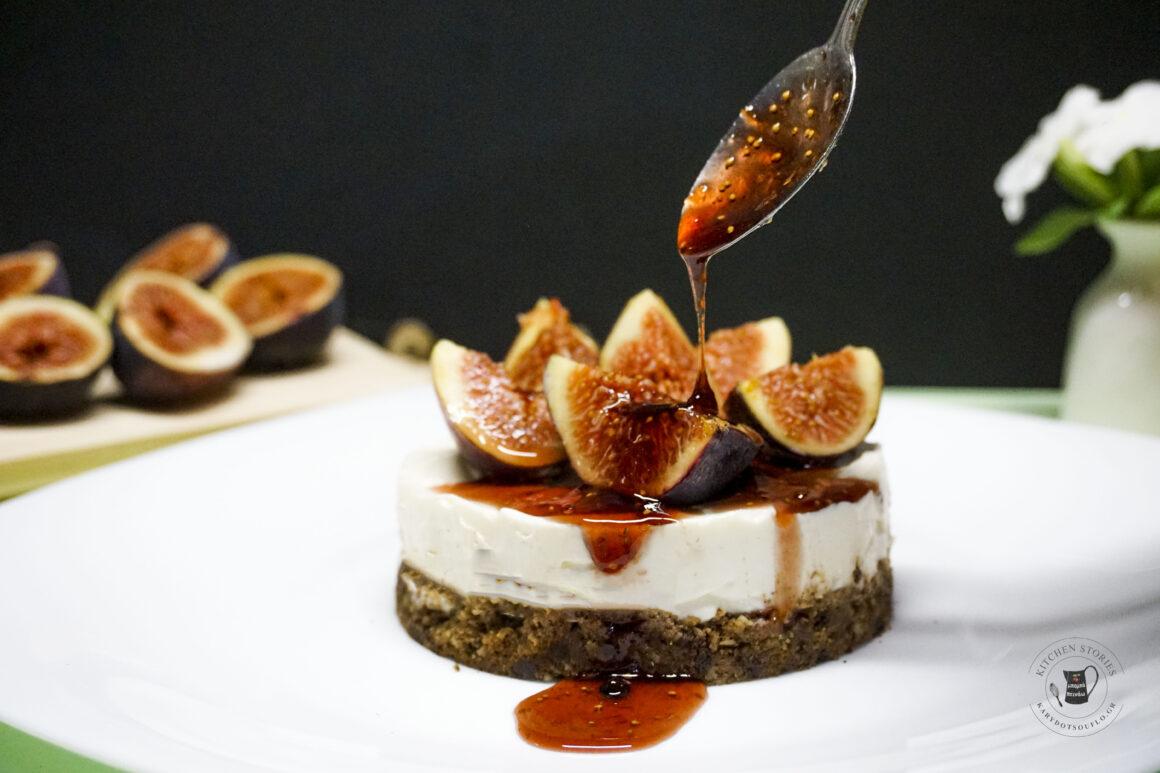 Cheesecake με σύκα χωρίς ζάχαρη